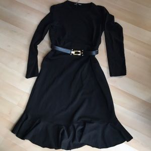 New black Zara long dress